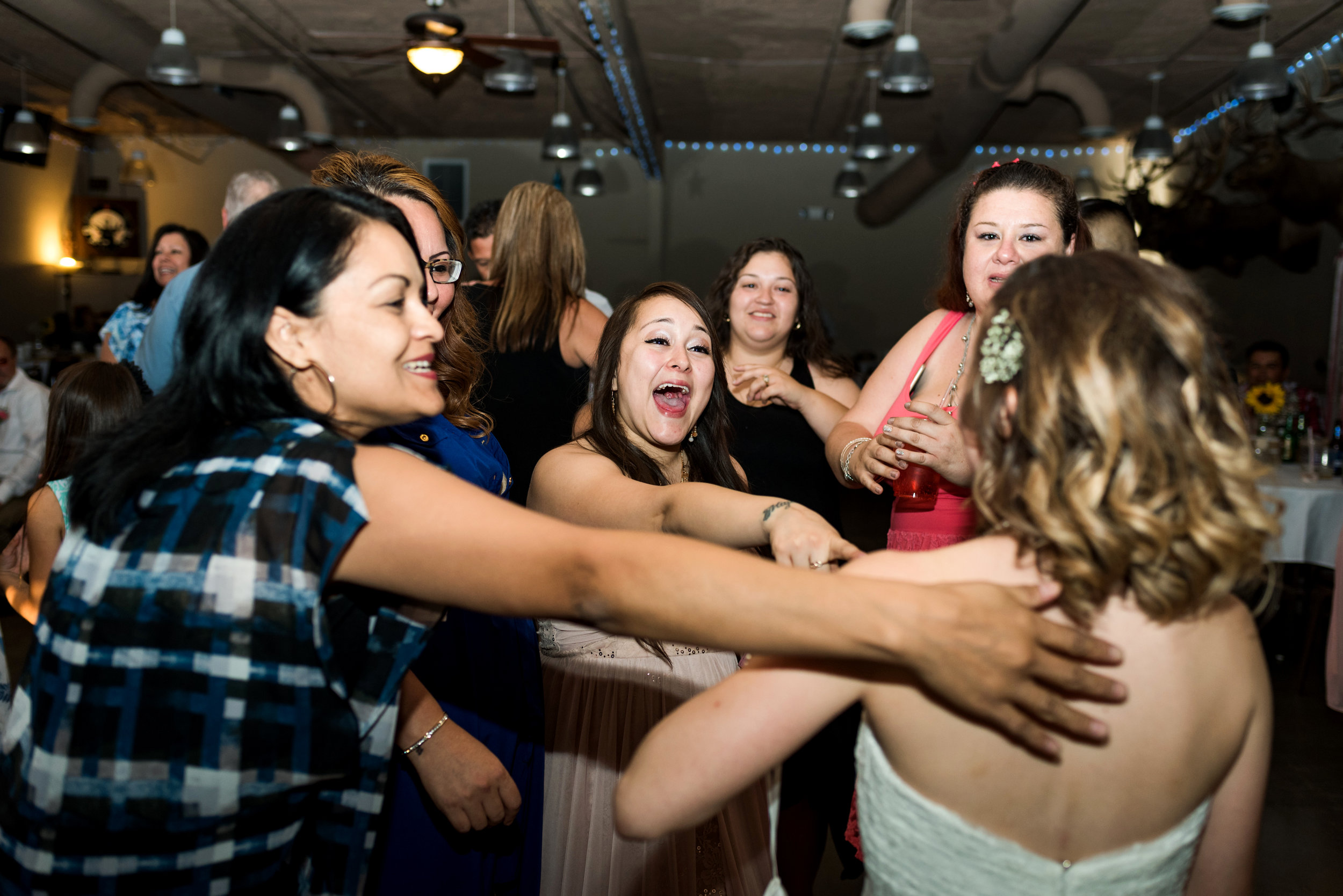 Fun reception for a wedding timeline