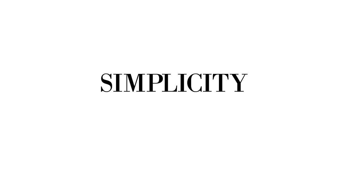 Simplicity, a minimalist goal for a word for 2017