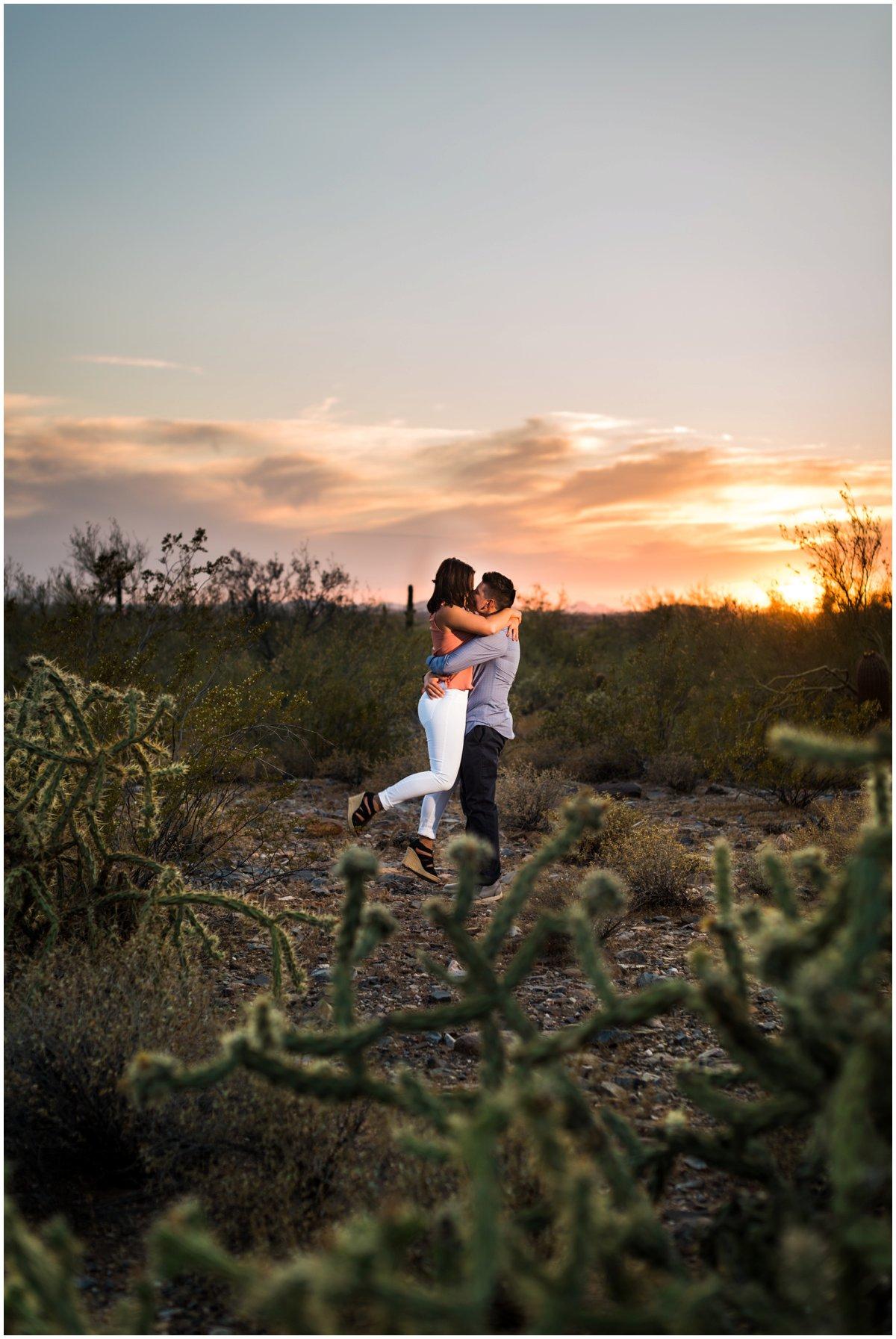 Desert Mountain Engagement Photos at McDowell Mountain in Scottsdale, Arizona