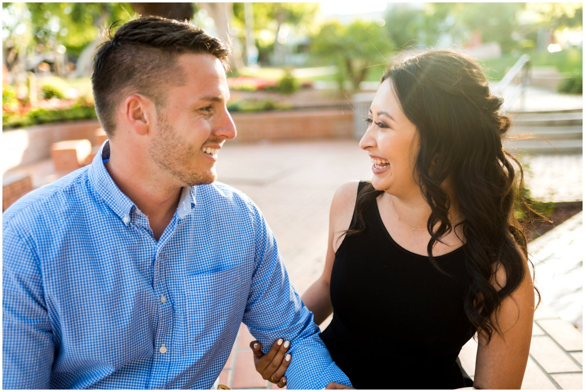 Fun and Colorful Engagement Photos at Scottsdale Civic Center in Scottsdale, Arizona with Minto Be Bride Blogger, Valerie Garcia.