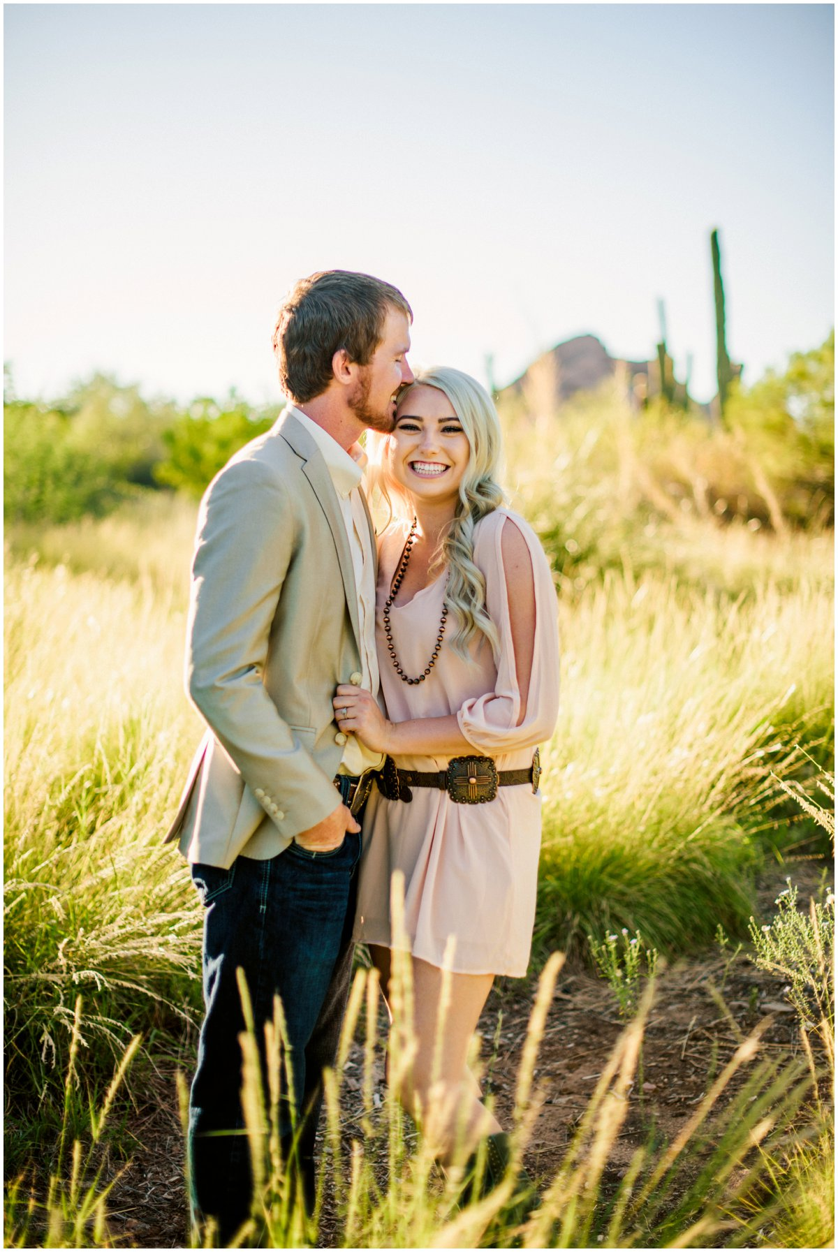 Couples Desert Botanical Garden Engagement Photos with a rustic, country feel in Phoenix Arizona.