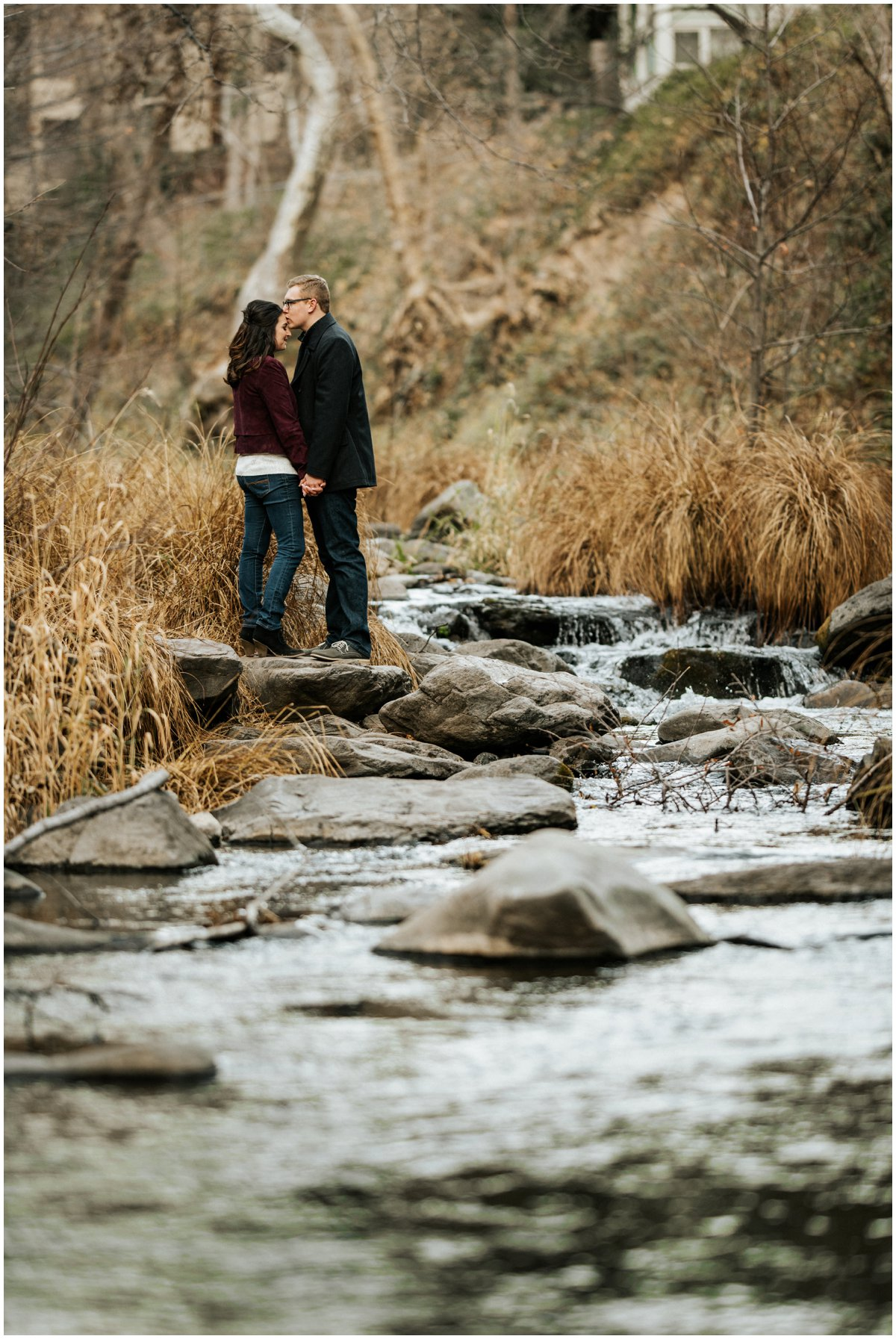 Fun Engagement Photos in Sedona, Arizona during Winter.