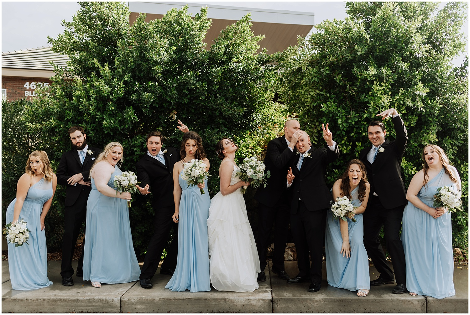 Fun Wedding Party Portraits on the Wedding Day