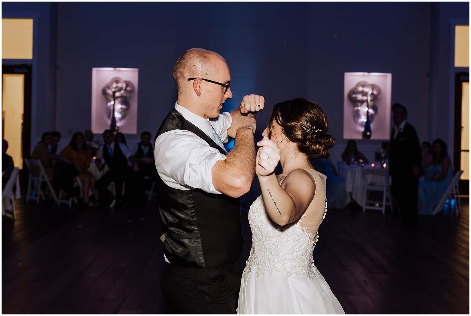 Bride and Groom Dance off During Reception