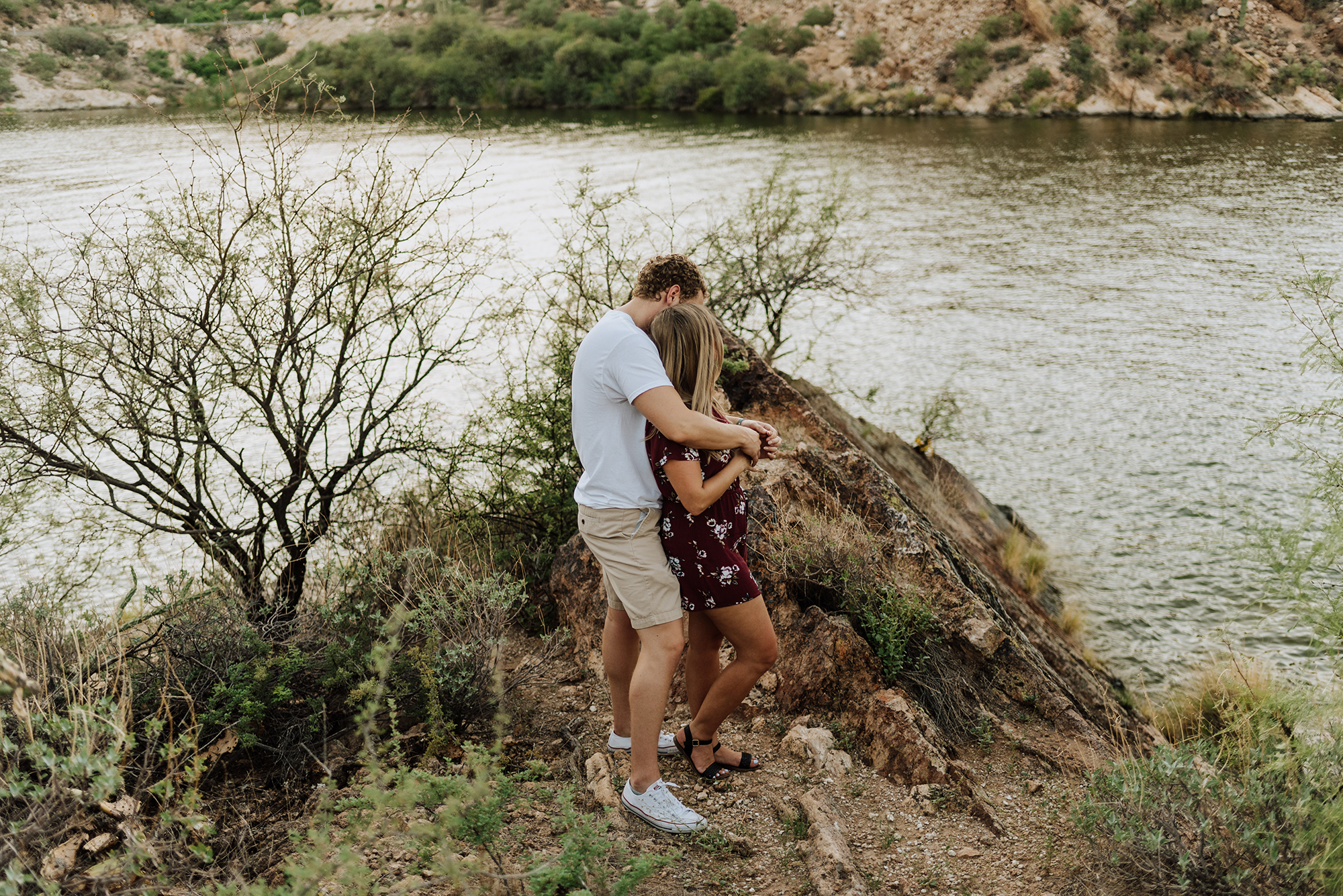 Engagement photo inspiration at Canyon Lake in Arizona.
