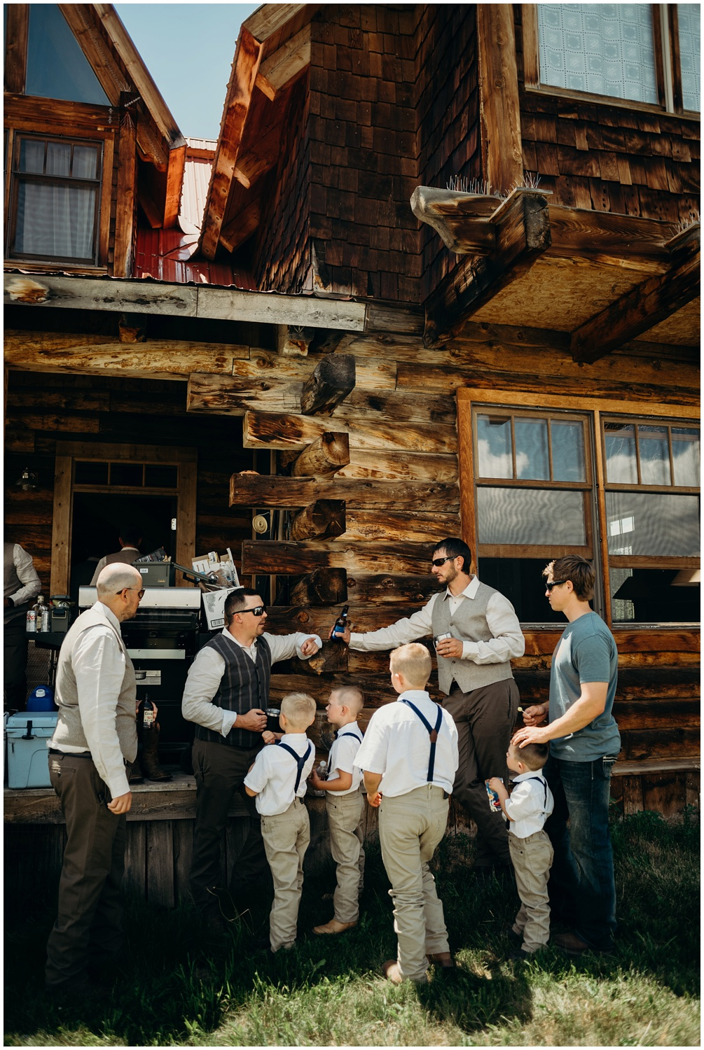 Outdoor wedding in Steamboat, Colorado documented with photojournalism