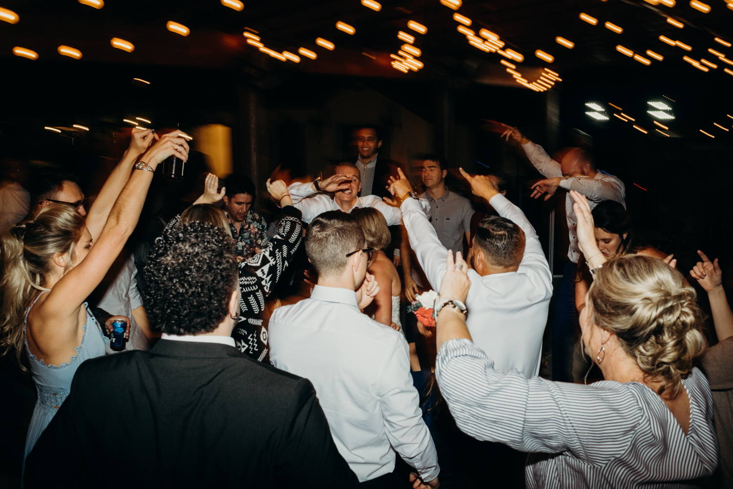 Photographed a full dance floor where all the guests were jumping during the reception in Arizona.