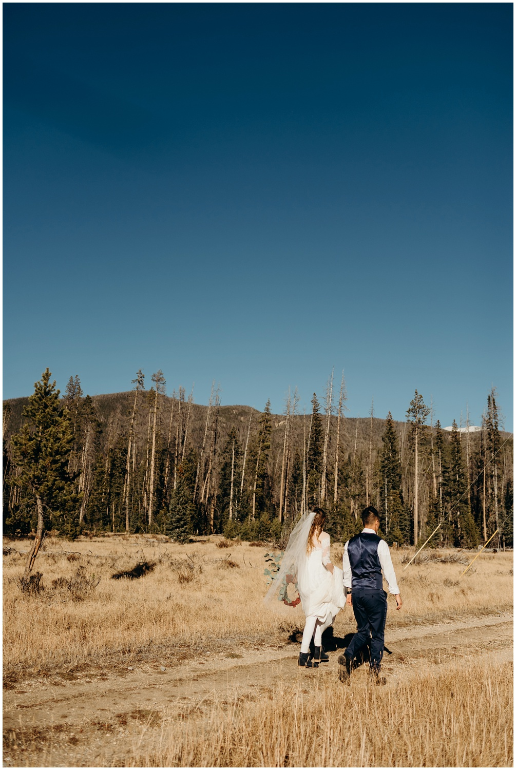 Intimate Wedding Ceremony at the Rocky Mountain National Park in Colorado.