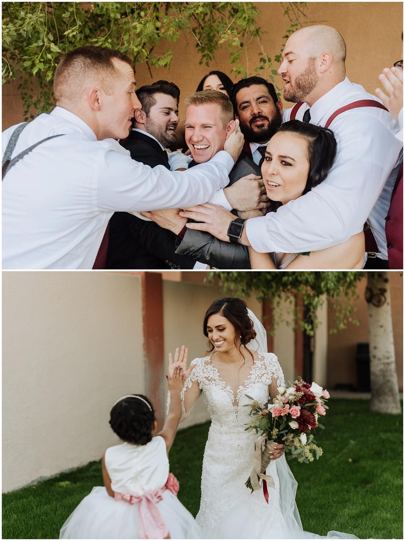Documentary style wedding photography in Casa Grande, Arizona.