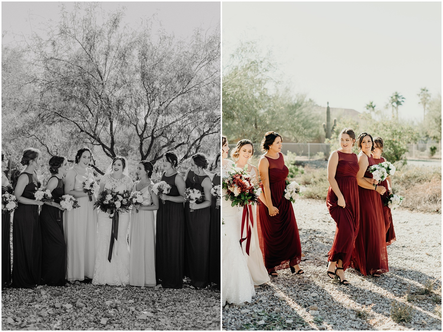 Documenting a couple's wedding day through photojournalism in Casa Grande, Arizona.