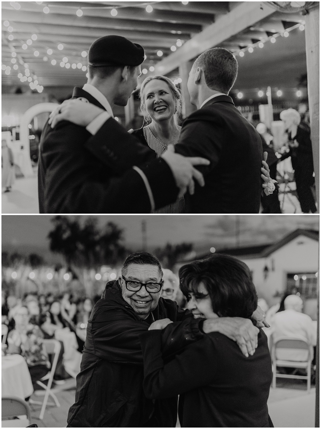 Couple invites all the Mother's and Son's to the dance floor to share in the parent dances during the reception.