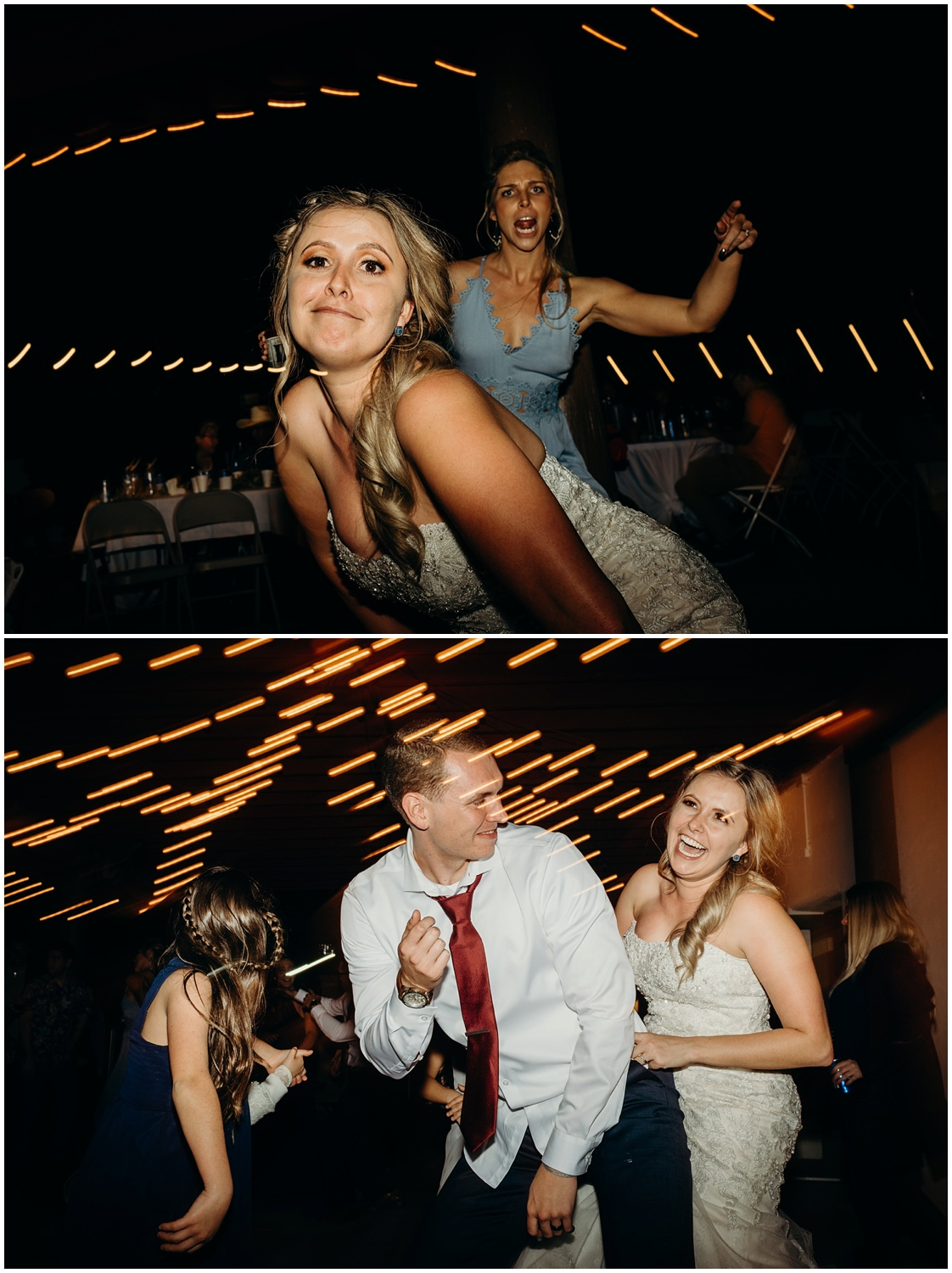 Fun and energetic reception and dance floor documented with photojournalism.