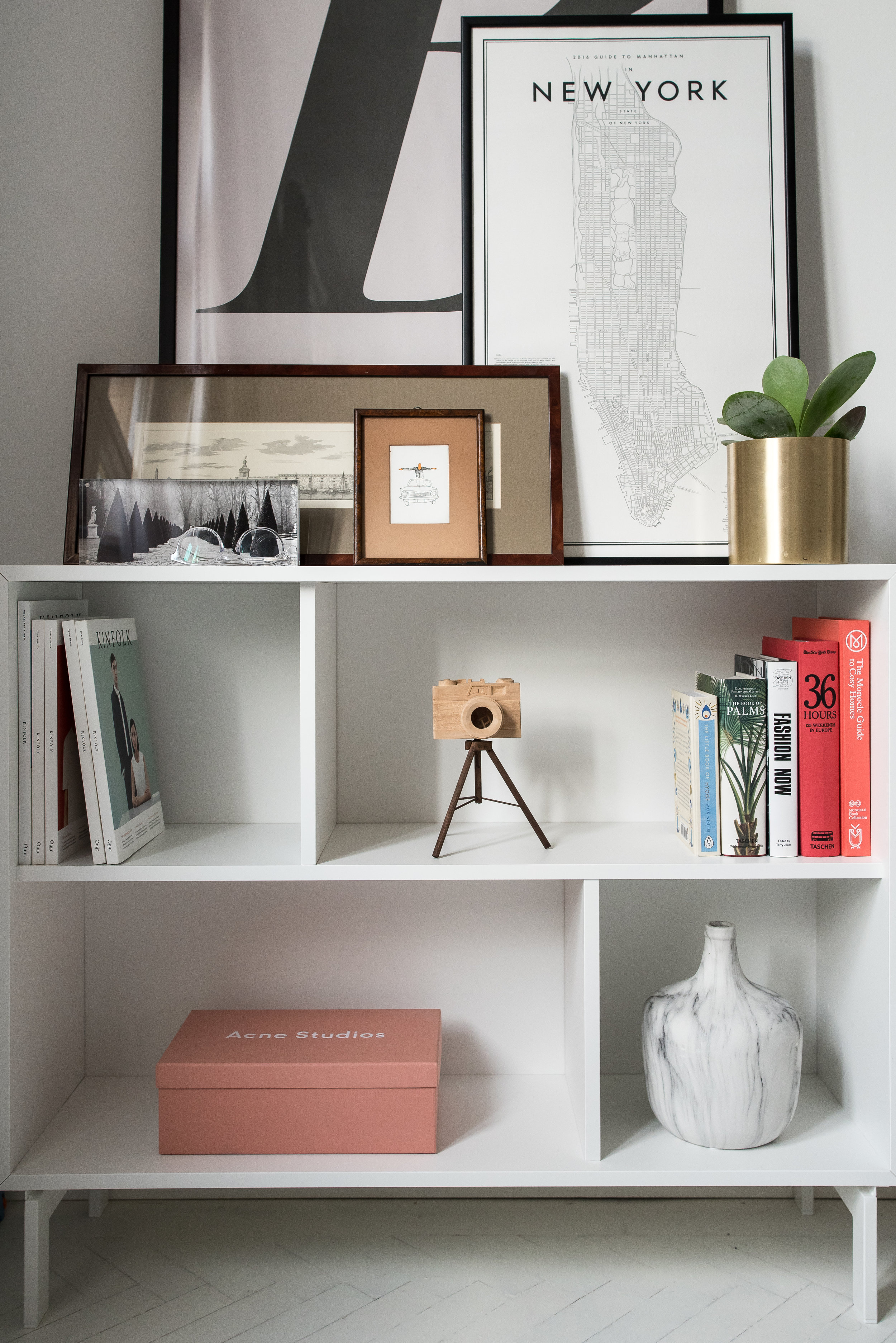White IKEA 'Valje' Sideboard