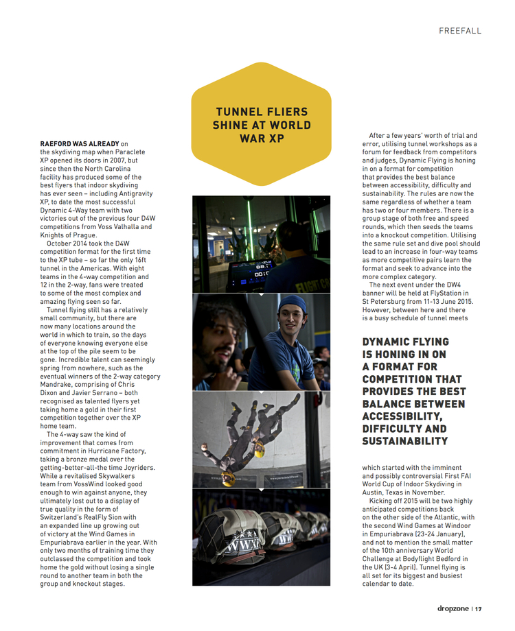 World War XP News Item   Dropzone Magazine  December 2014