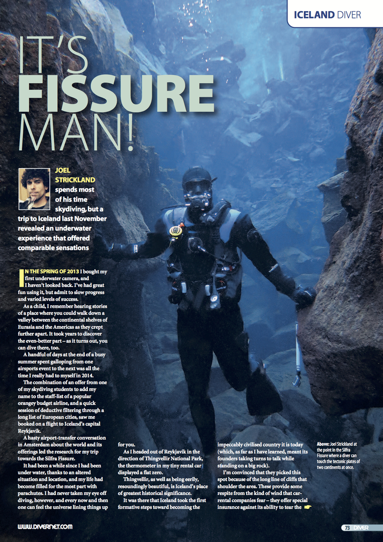 Silfra Fissure Feature   Diver Magazine  May 2015