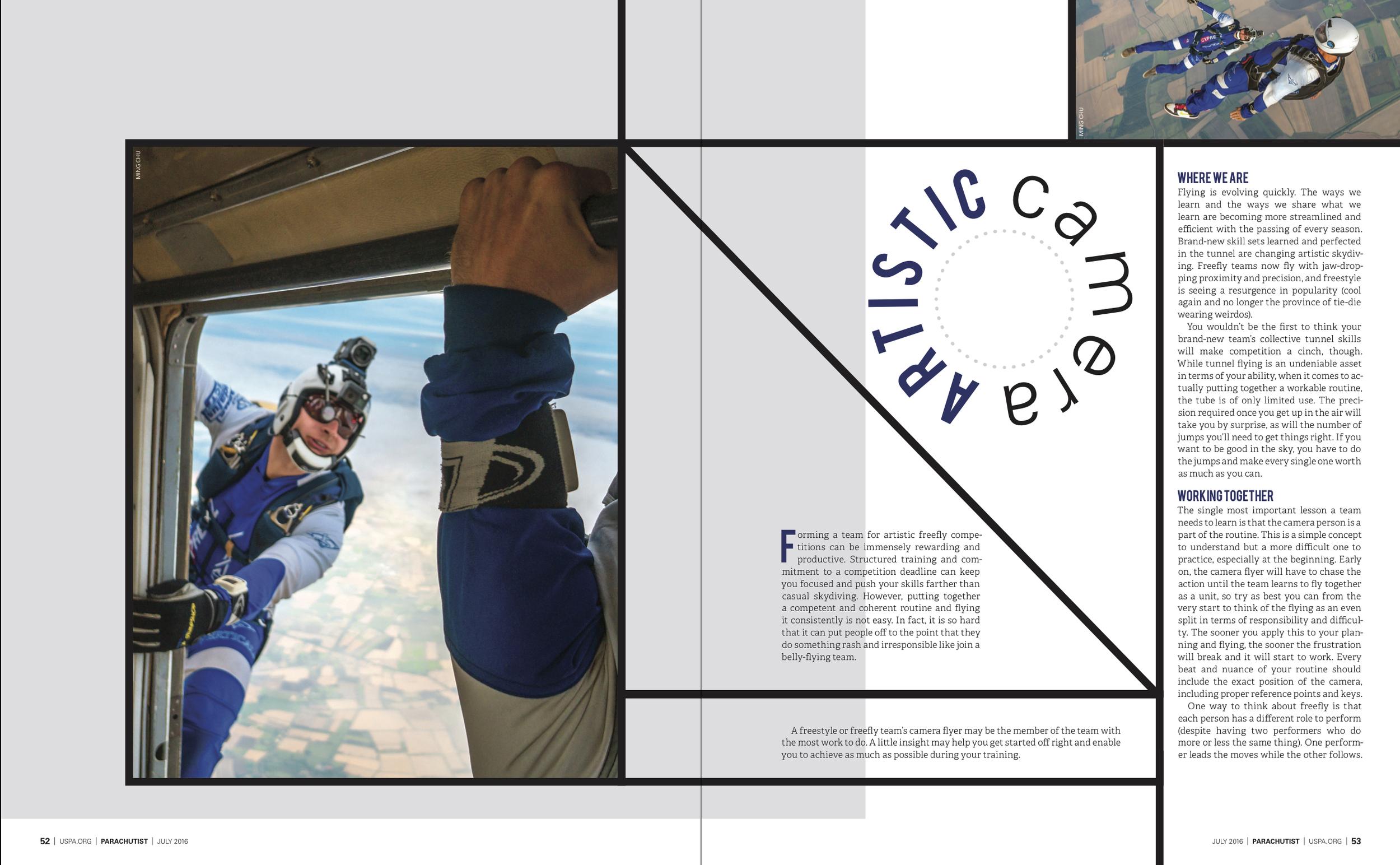 Artistic Camera   Parachutist  July 2016