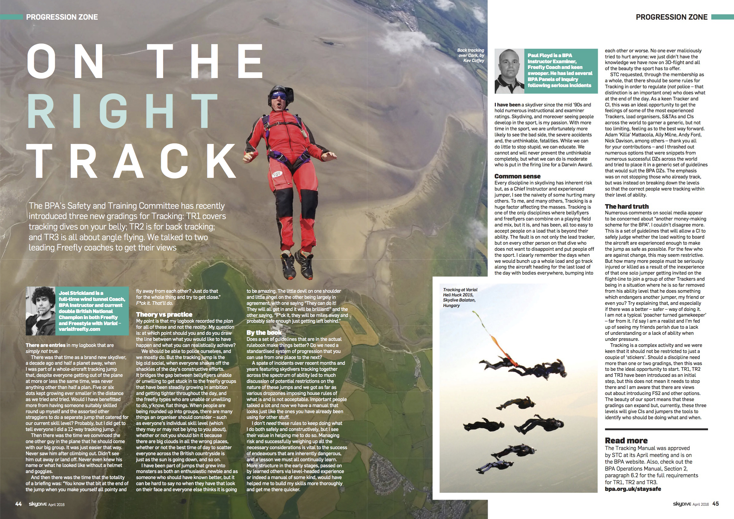Tracking   Skydive The Mag  March 2016