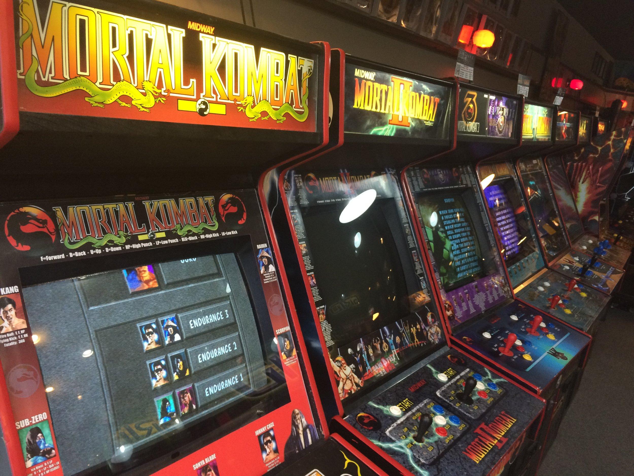 All the Mortal Kombat machines.