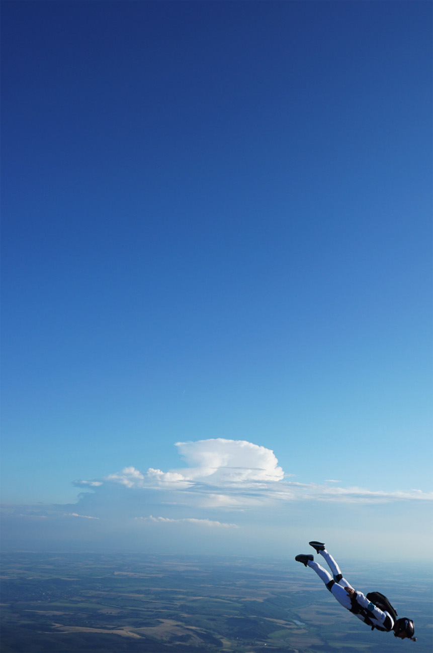 Storm cell building in the distance.