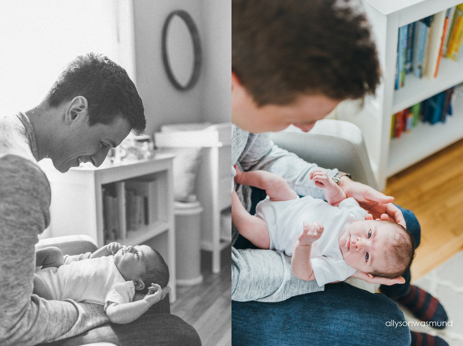 in home lifestyle newborn session in minneapolis minnesota