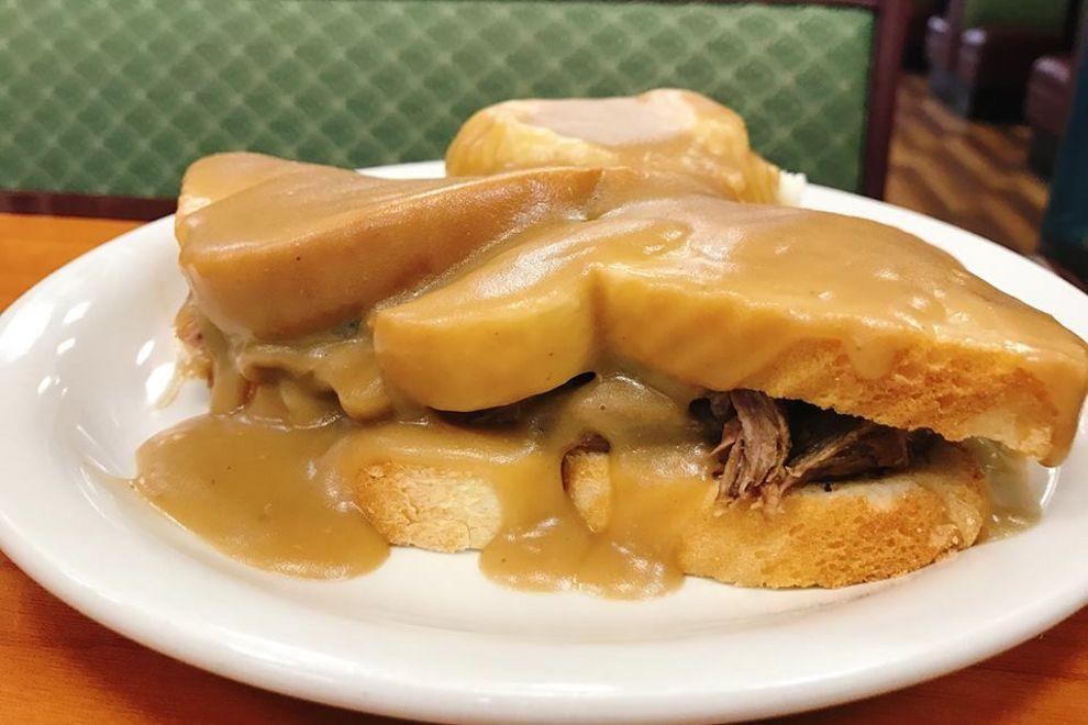 Hot Beef Sandwich at Charlie's Main Street Cafe, best in North Dakota