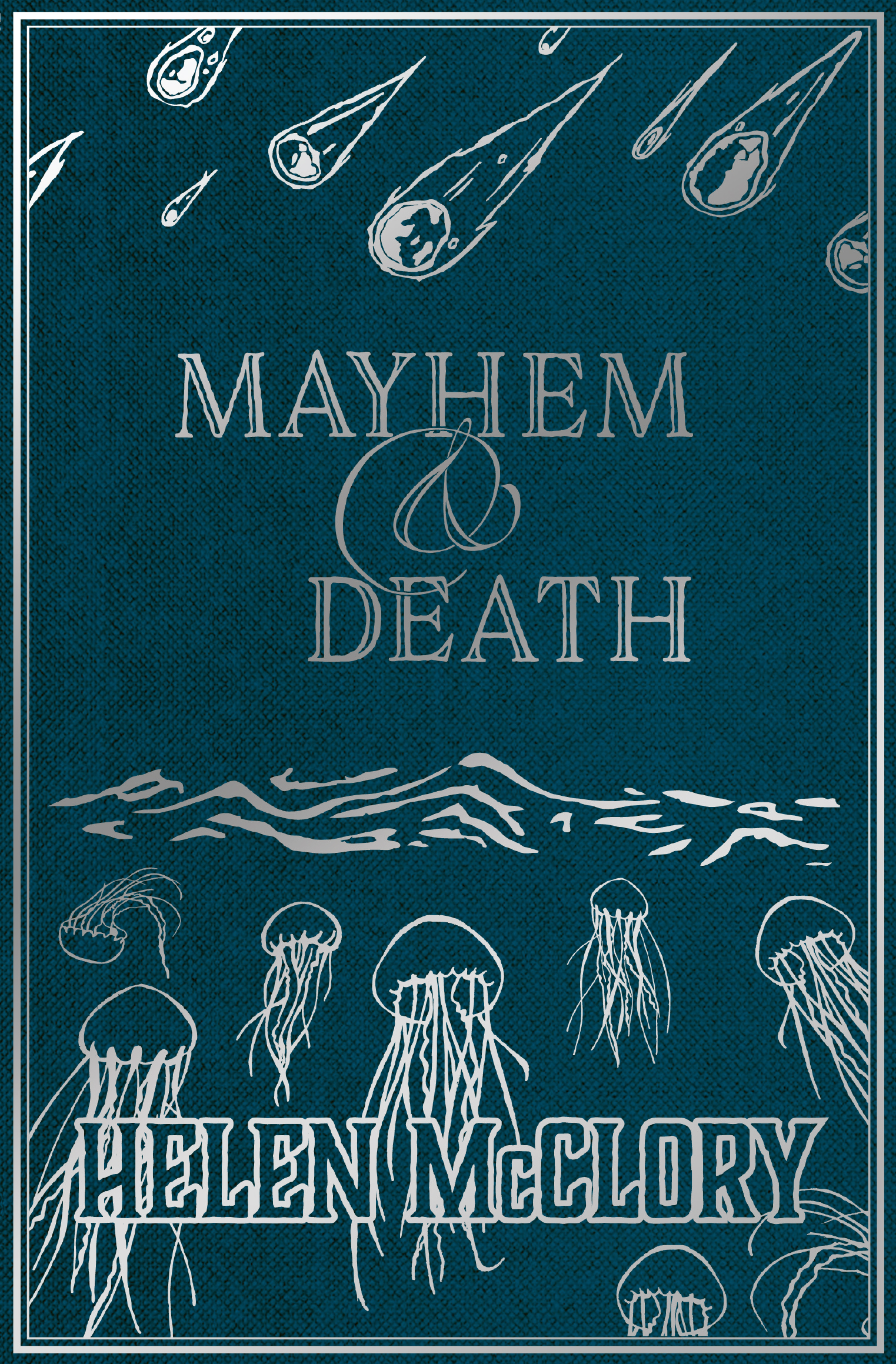 MAYHEM & DEATH  In the anticipated follow-up collection to 2015's award-winning On the Edges of Vision, Helen McClory returns delving deeper into descriptively mythical yet recognisable stories woven from dark and light, human fear and fortune.   Swimming and suffering. Spikes loom ever-threatening. A weight against the throat. Sea where the dead lie pressed into a layer of silt. A silent documentary through a terrible place. Mary Somerville, future Queen of Science. A coven of two. A polar companion.   Mayhem & Death is the matured, darker companion to On the Edges of Vision and shows McClory's ever expanding ability to envelop and entrance her readers with lyrical language of lore, stunning settings and curious characters. It includes woodcut-style illustrations to accompany each short story.