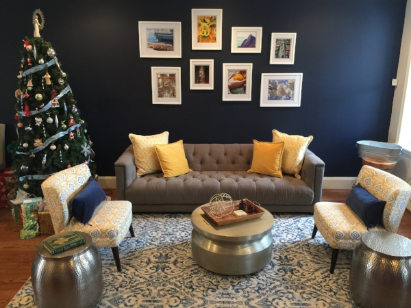 Clients' Finished Gallery Wall (Note Rest of Room Still in Progress...Pics )