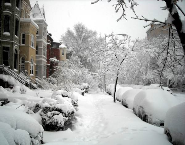 DC Street in Winter