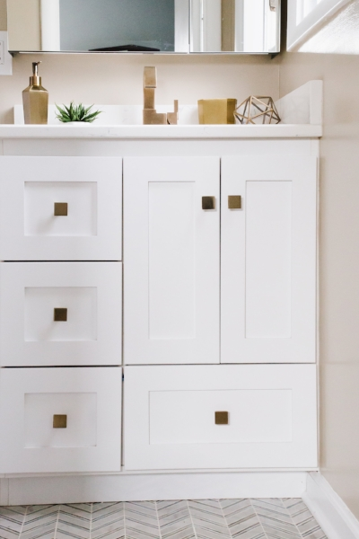 Strasser Woodenworks Vanity (from Wayfair) with Updated Hardware
