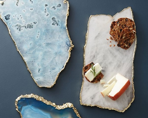 Agate Cheese Board (Anthropologie) - $78   A cheeseboard is a great gift, but one can only have so many. What I love about this chic option is that even if your gift recipient has one, it can be used as a decorative item on a coffee table (put a few votives on it) or on your vanity. Lots of options to choose from, too!
