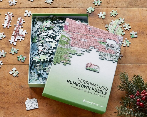 Your Hometown Puzzle (Sundance) - $44   This Thanksgiving, I had a chance to do something I hadn't down for 20+ years…put together a puzzle. It's a great indoor activity and even more fun when the image is your hometown. It even could be framed and become wall art when you finish!