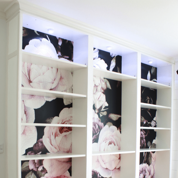 Floral Bookshelves by Top Shelf DIY
