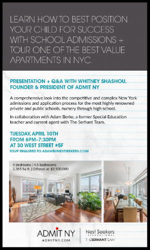 Admit NY and Nest Seekers School Admissions Event and Open House