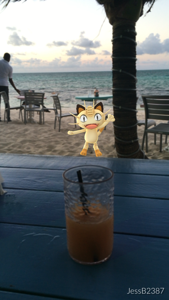 Pokemon grabbing a rum punch at Da Conch Shack - images by JessB2387