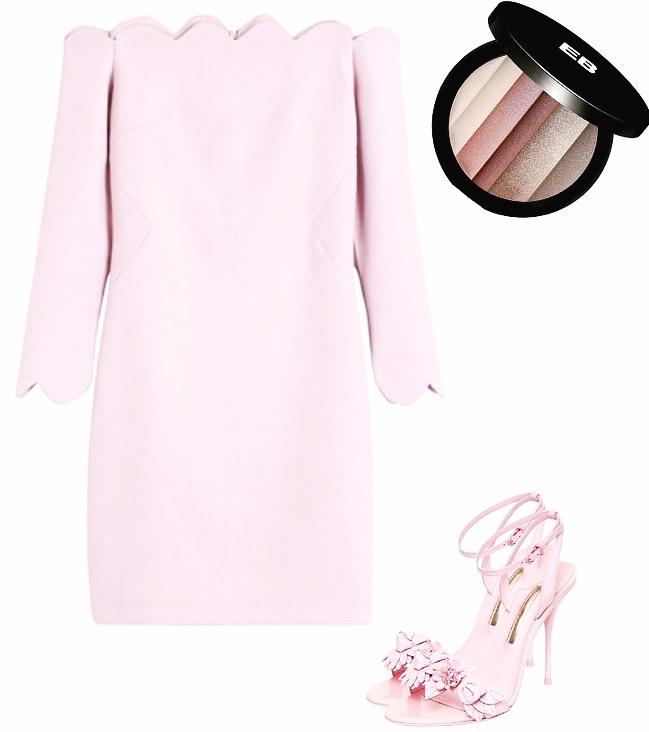 Dress:  Metisu Shoes:  Sophia Webster Eye Palette:  Edward Bess