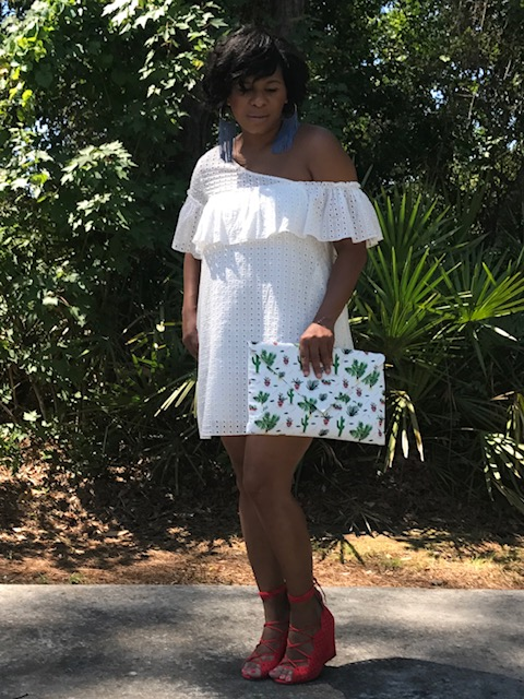 Dress:  Ivy & Leo Shoes:  VICI  Earrings:  VICI Clutch:  Ashle Gryre