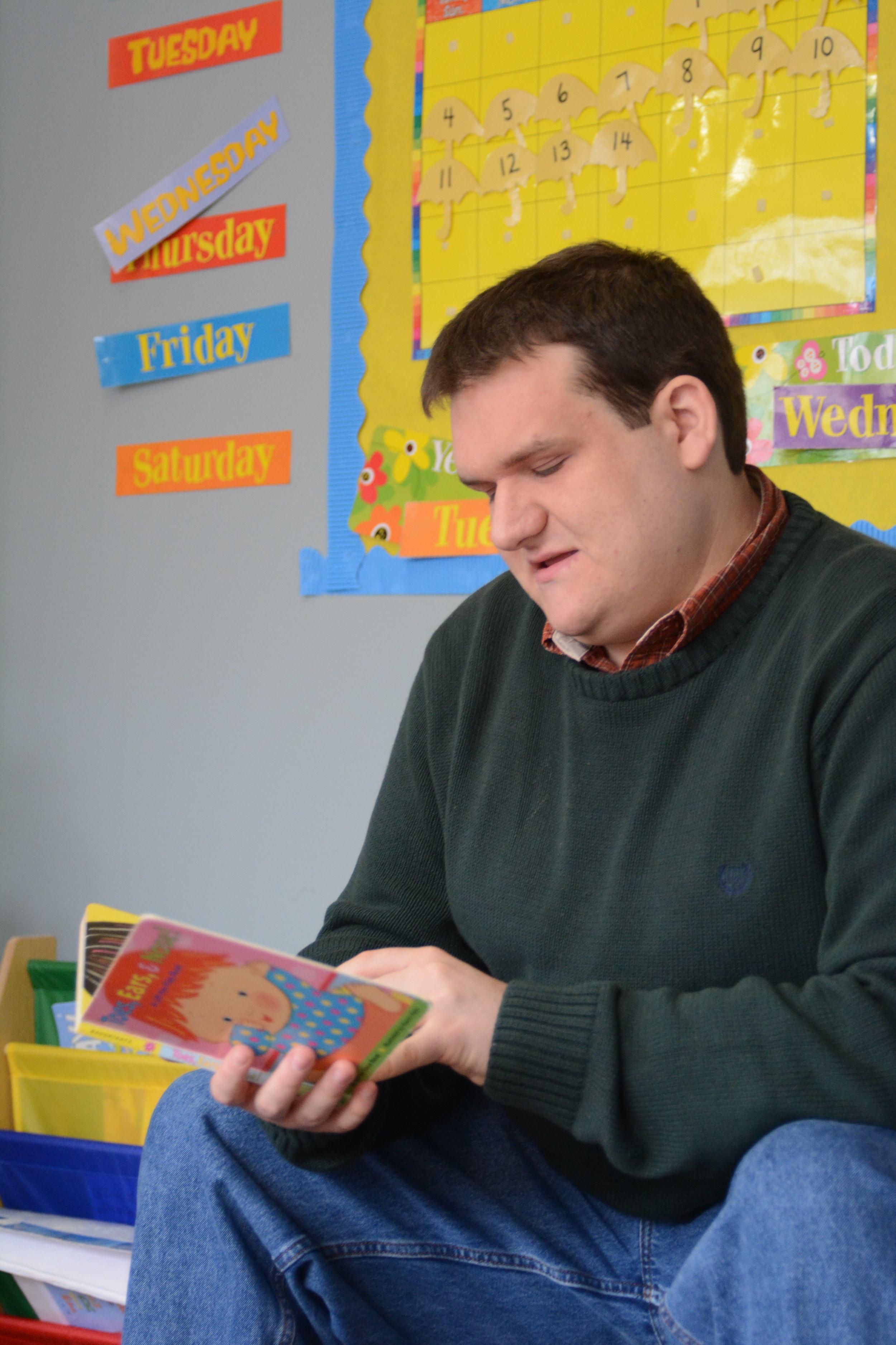 Michael reading.JPG