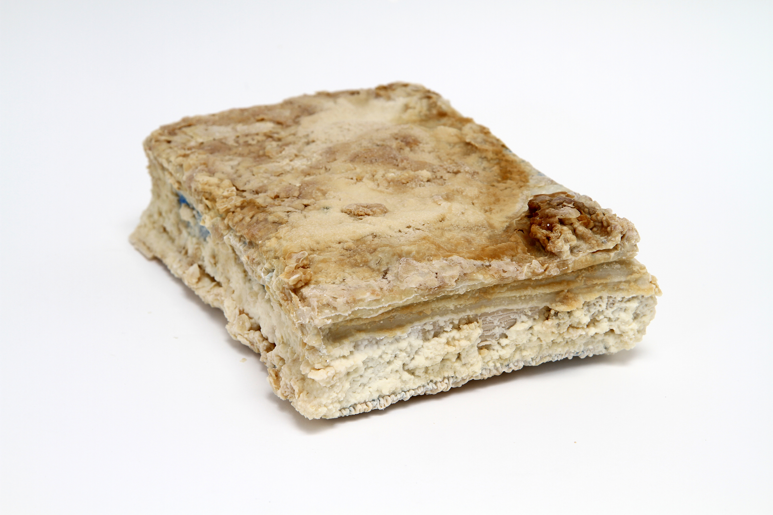 Relic (Mastering the Art of French Cooking, Julia Child, Louisette Bertholle, Simone Beck) 2012  found book, monosodium glutamate (MSG), epoxy 8 x 2 x 11 inches