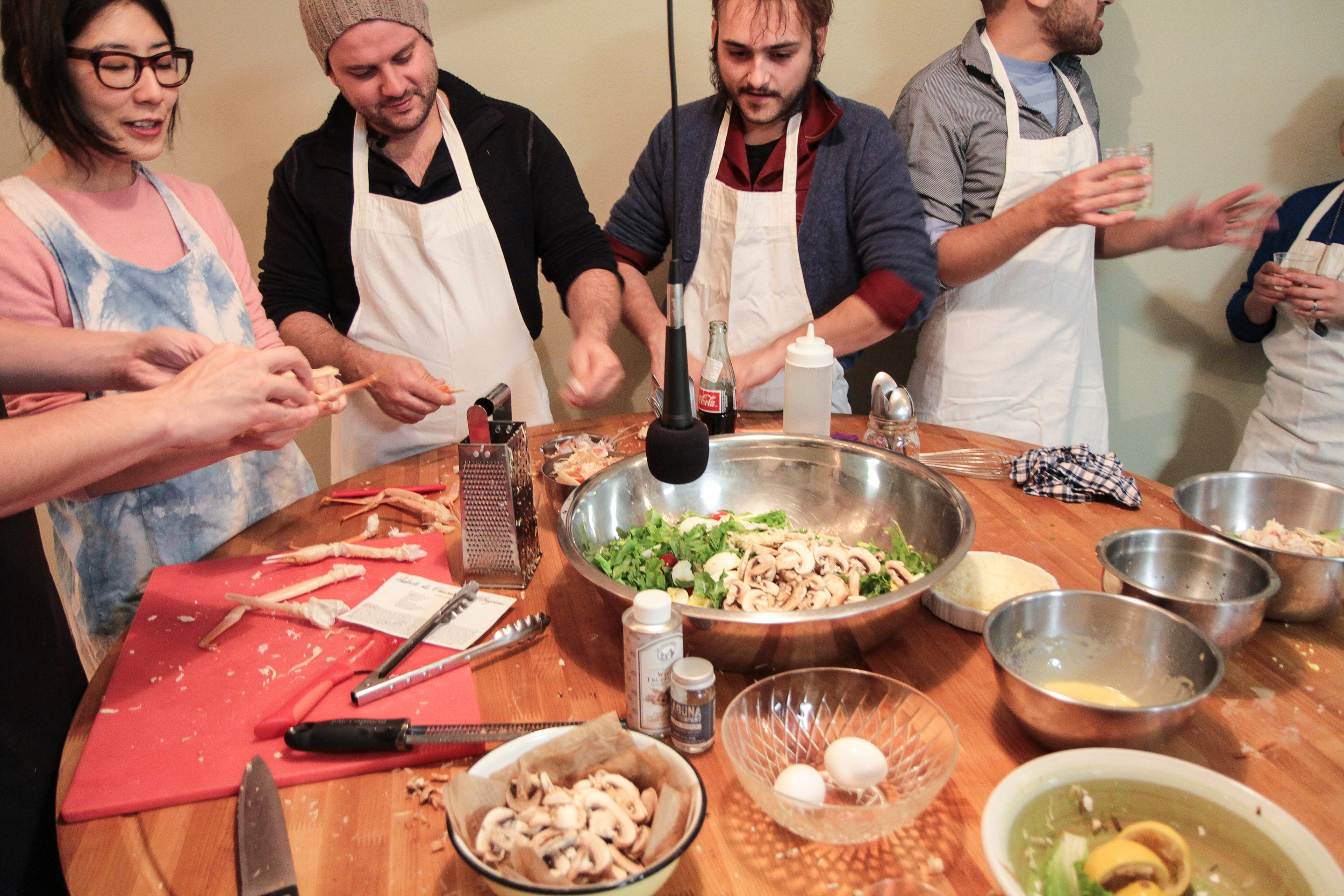 Salade du Chevalier d'Albignac  2015 Interactive performance December 12th, 2015, Thank You For Coming, Los Angeles, CA