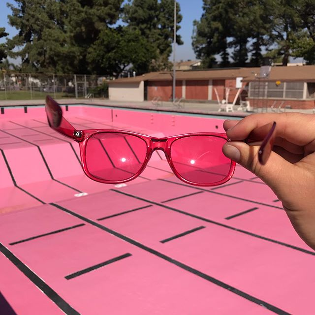 Seeing the world through rose-colored glasses. . . . . . #bakermillerpink #bakermiller #schausspink #drunktankpink #prisonpink #schausskitchen #currentla #currentlafood #publicart #publicartinstallation #interactiveart #valleyplazarecreationcenter #christopherreynoldsstudio #christopherreynolds #suppressant #colortheory #foodmarketing #marketingtactics #advertisingmanipulations #subliminal #subliminaladvertising #appetitemonument #appetitesuppressant #appetiteapparatus #pinkpool #nodiving #icala #culture_la #255145175 #rgb