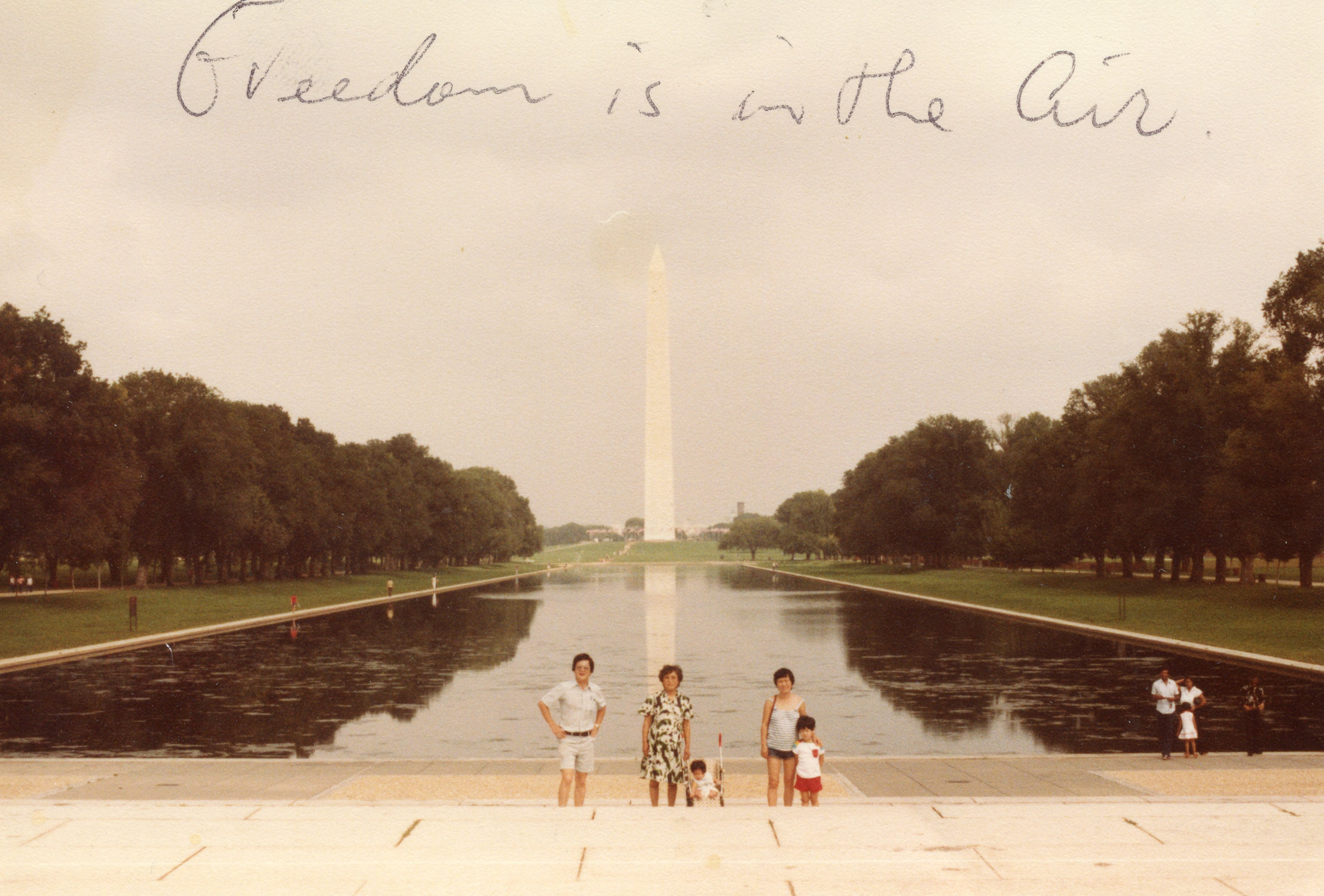 My family with my grandmother visiting Washington DC, 1981.
