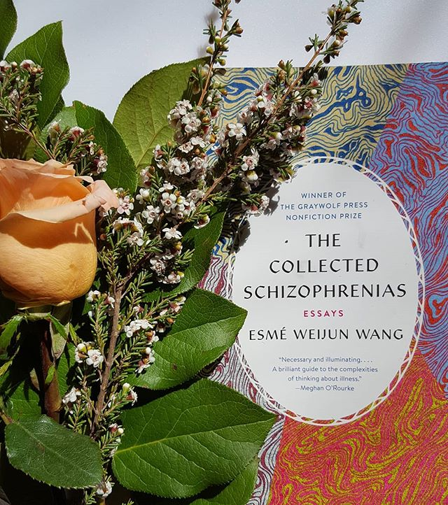 Current read: The Collected Schizophrenias by Esmé Weijun Wang. 🌹  This is such an important work. Calling attention to the hierarchy of privilege that exists amongst mental illnesses (and illnesses/disabilities in general) was something the contemporary patient-perspective literary canon DESPERATELY needed. And that's not to mention Wang's prose, which is absolutely divine, and so so poignant.  Thank you for writing and sharing this with the world, @esmewwang! And go blue!  #thecollectedschizophrenias #patientstories