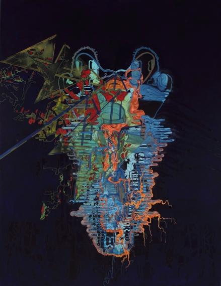 """'Algae Bloom', 59"""" x 71"""", acrylic on canvas"""