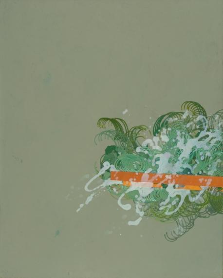 "'Countercurrent', 34.5"" x 28"", acrylic on canvas"