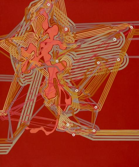 """'Signal', 36.25""""x30.25"""", acrylic on canvas"""