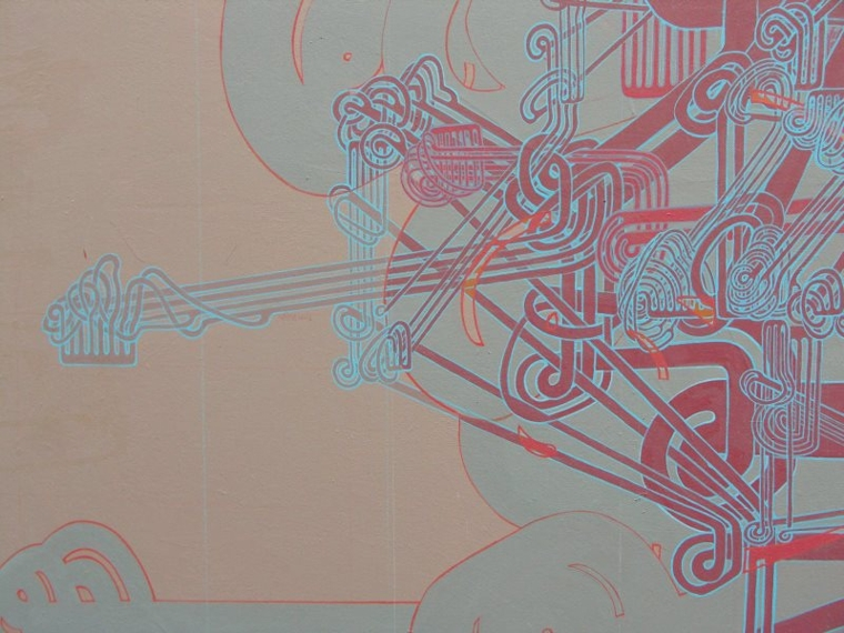 'The Phoenix and the Machine' (more detail), acrylic on canvas, 5' x 4'.jpg