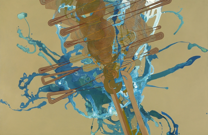 "'Tilt', 51"" x 78"", acrylic on canvas"