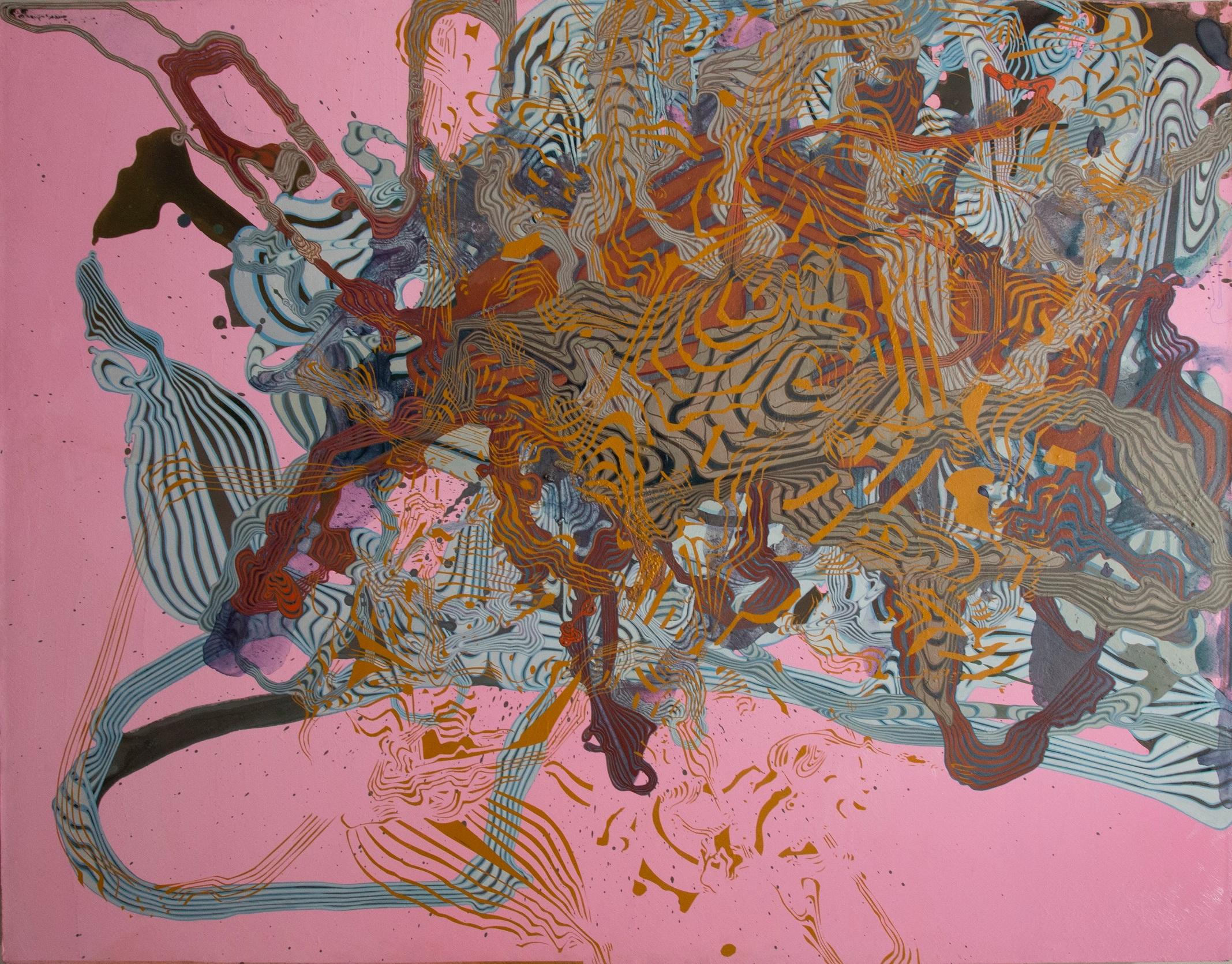 """'Illapse', 45"""" x 35"""", acrylic on canvas"""