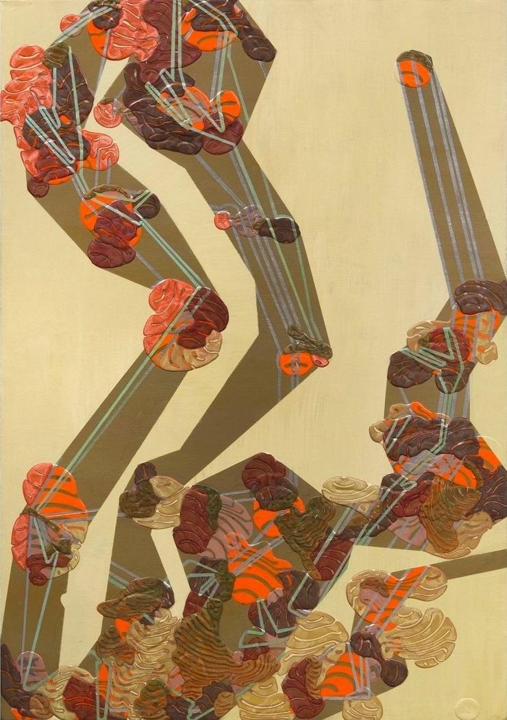 "'Vacuole', 29"" x 37"", acrylic on canvas"
