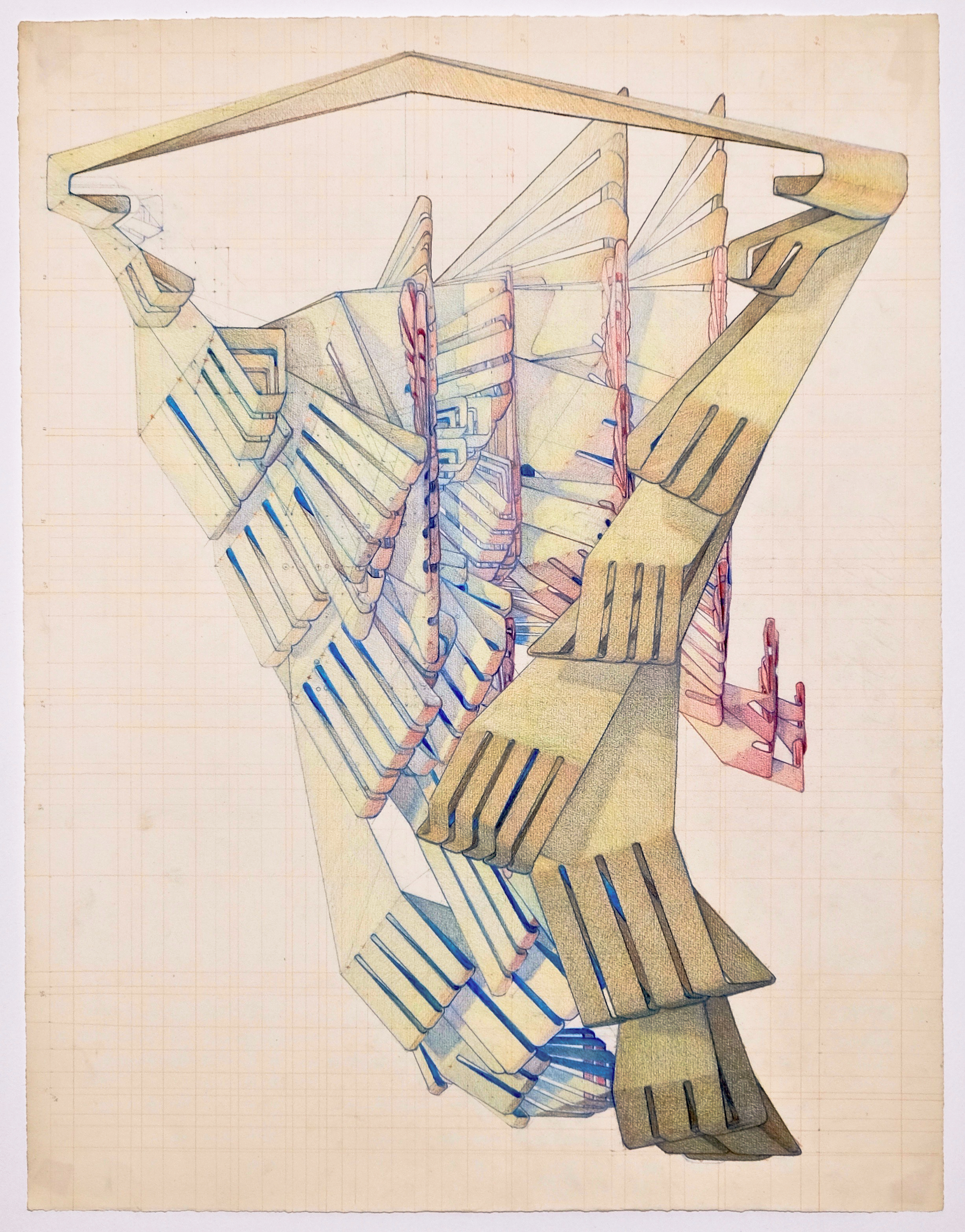 'Research Drawing 3', colored pencil on paper, 2018-4.jpg